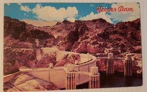 Vintage Postcard Hoover Dam 1989 Colorado River Black Canyon California Arizona