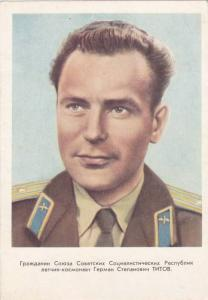 Soviet Union USSR Cosmonaut / Astronaut Portrait , 50-60s #2
