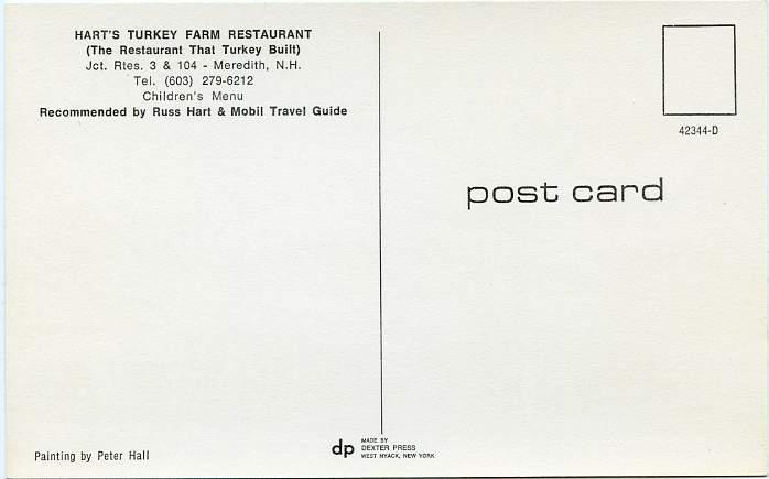 Hart's Turkey Farm Restaurant - Meredith NH, New Hampshire