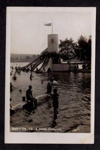 Czechoslovakia Lazne mesta domazlic Babylon Postcard Real Photo Ceskoslovensko