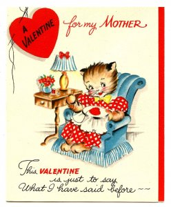 Greeting Card - Valentine for Mother. Envelope, Unused  (4.875 X 3.75)