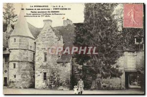 Old Postcard Lisieux and surrounding Fervaques previous Part of the castle