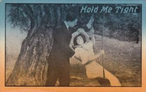 Romantic Couple On Swing Hold Me Tight