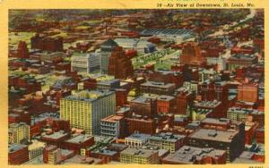 MO - St. Louis, Aerial View of Downtown