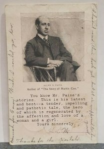 c.1906 Ralph D. Paine Author of The Story of Martin Coe Post Card