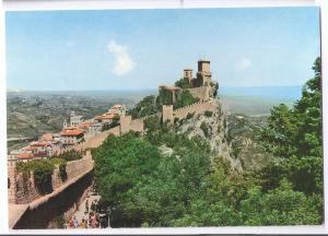 San Marino The Tower City Walls 4X6 Postcard