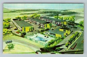 Arlington VA- Virginia, South Gate Motor Hotel, Aerial View, Chrome Postcard