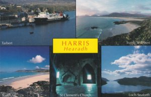 Caledonian Ship Ferry at Harris Hearadh Outer Hebrides Postcard