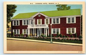 Cherokee Hotel Murphy North Carolina NC Hiawassee Lake Vintage Postcard C94
