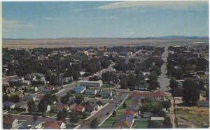 Air view of Rawlins Wyoming WY