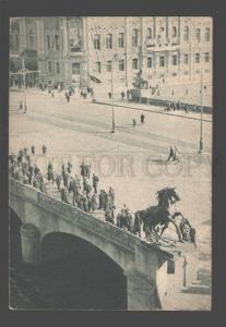 092167 RUSSIA Leningrad Anichkov bridge AVANT-GARDE photo Old