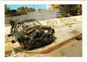 Free Parking Car Wreck South Bronx by Genevieve Hafner NYC Photography Postcard