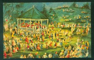 CHATHAM BAND CONCERT Grace Chapin Painting Cape Cod Massachusetts MA Postcard
