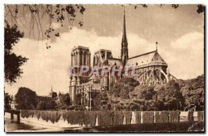 Paris - 4 - Apse of the Notre Dame Cathedral - Old Postcard
