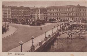 Bari Italy Italian Lungomare Antique Postcard