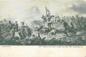 Petersburg Virginia~Battle of the Crater (Fought July 30 1854)~c1905 Souvenir PC
