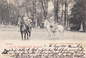 Grusse Aus Der Garnisonstadt BAYREUTH (Bavaria), Germany, PU-1900; Soldaten D...