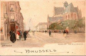 Belgium Brussels Rue de la Regence