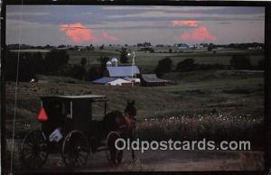 Nice Tidy Farms Cashton Settlement, Amish Country Postcard Post Card Cashton ...