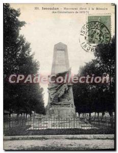 Postcard Issoudun Ancient Monument Pupil A La Memoire Fighters