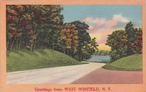 New York Greetings From West Winfield