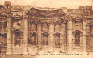 uk41855 excedre circulaire de la grande cour baalbek  lebanon