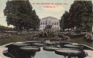 Lily Pond, Horticultural Hall, Fairmount Park, PHILADELPHIA, Pennsylvania, PU...