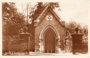 Thomas Beckets Deacon Water Well Northampton 1843 Old Real Photo Postcard