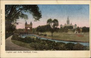 Hartford CT Capitol & Arch Reichner Bros Shiny Finish c1905 Postcard