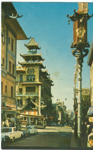 USA, Grant Avenue, Chinatown, San Francisco, 1960s unused Postcard