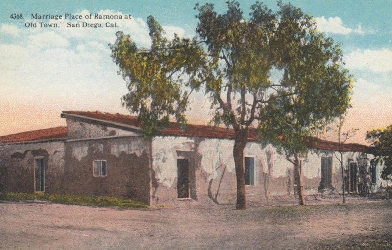 SAN DIEGO, California, 1900-10s; Marriage Place of Ramona at Old Town
