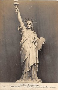 Statue of Liberty Post Card Musee du Luxembourg Bartholdi Unused