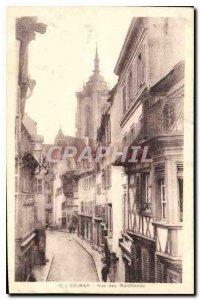 Old Postcard Colmar Merchants Street