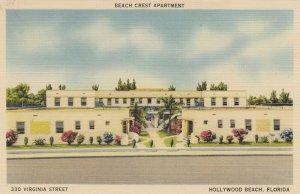 HOLLYWOOD BEACH , Florida, 1930-40s; Beach Crest Apartment