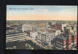 EL PASO TEXAS BIRDSEYE VIEW DOWNTOWN VINTAGE POSTCARD