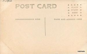 C-1910 Pleasanton Kansas Christian Church RPPC real photo postcard 6714