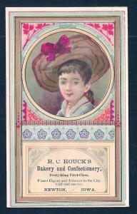 VICTORIAN TRADE CARD HC Houcks Bakery & Confectionery