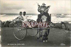 Postcard Modern Durban Beach Boy Ricksha Folklore