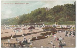 Essex; The West Beach, Southend On Sea PPC, Unposted, Shows Bathers