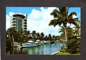 FL Pier 66 Motor Hotel, Ft Lauderdale Florida Postcard, Boats