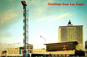 Nevada Las Vegas Greetings Showing Sahara Hotel