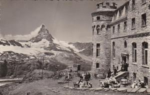 Switzerland Hotel Gornergrat Kulm mit Matterhorn Mont Cevin Photo