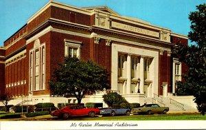 Texas Dallas Mo Farlin Memorial Auditorium Southern Methodist University
