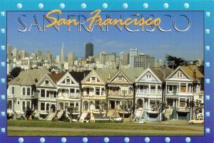 Postcard 1995 Victorian Homes, San Francisco, California, USA J80