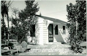 GULLIVER LAKE, Michigan RPPC Photo Postcard Sleeping Cabin at Old Deerfield