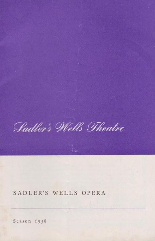 Sadlers Wells Opera Wagner The Flying Dutchman 1950s Theatre Concert Programme