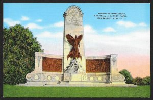 Missouri Monument National Military Park Vicksburg Mississippi Unused c1930s