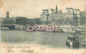 Old Postcard The Paris City Hall Boat
