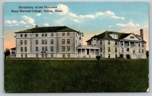 Dillon Montana~State Normal College Dormitory~c1910 Postcard