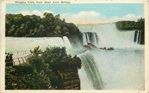 Niagara Falls New York~Niagara Falls 1920s Vintage White Border Postcard